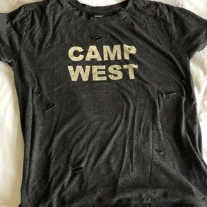 """Forever 21 """"Camp West"""" stylishly ripped graphic!"""